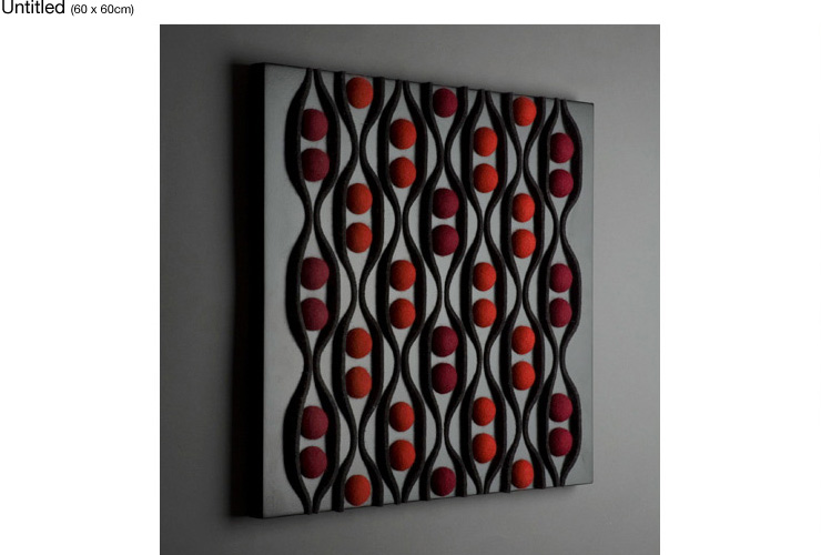 Lattice; 70 x 70cm; Wall Installation; Plywood (Painted CNC), embedded Felt. 2007