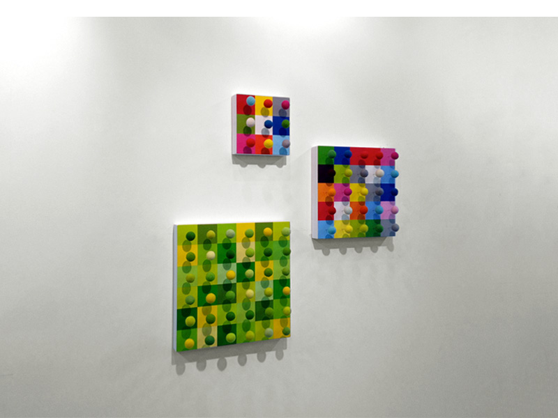 36x25x9 (2011), 30x30cm, 25x25cm, 15x15cm, Mixed media, Acrylic/gesso on Wood.