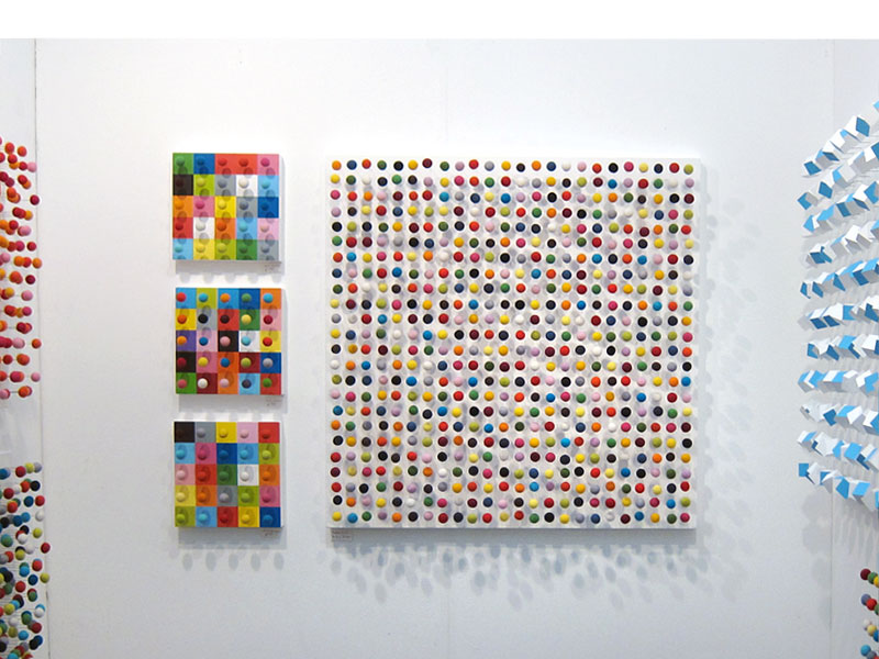Random 21 (2011), 90 x 90cm, Mixed Media